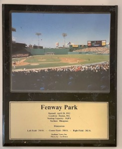 Fenway Park Photo Wall Plaque