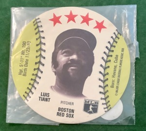 Luis Tiant Boston Red Sox Restaurant Coaster
