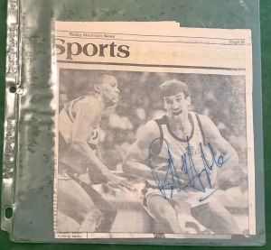 Autographed Newspaper Articles