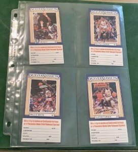 Autographed Denver Nuggets Raffle Tickets