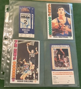Autographed Trading Cards and Tickets