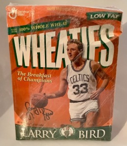 Larry Bird Boston Celtics Wheaties Box