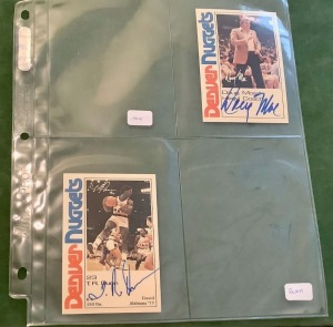 2- Autographed NBA Denver Nuggets Trading Cards