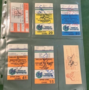 6- Autographed Ticket Stubs