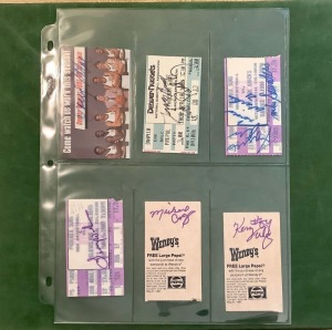 6- Autographed Ticket Stubs and Denver Nuggets Season Schedule
