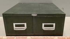 Small Index Card File Cabinet