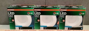 "3 - Sylvania 5"" or 6"" Recessed Kit LED Light Fixtures"