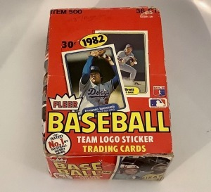 1982 Fleer Box of Logo Sticker and Card Sets