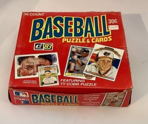 Donruss 1983 Box of Puzzzles and Card Sets