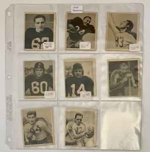 8- 1948 Bowman Football Player Cards