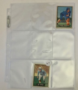 2- 1951 Topps Magic Football Player Cards