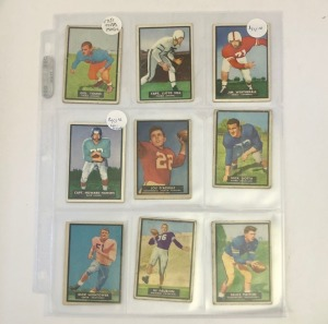 9- 1951 Topps Magic Football Player Cards