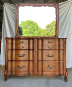 White Fine Furnture Dresser with Mirror