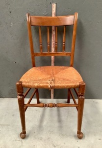 Rush Bottom Wood Chair