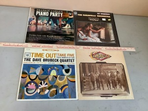 Frankie Carle, The Caravelli Orchestra, The Dave Brubeck Quartet, Calico Record Albums