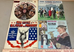 David Frye, Rich Little, W.C. Fields, The First Family Record Albums