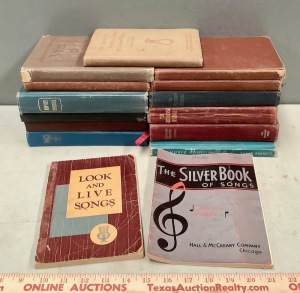 Vintage Hymnals and Songbooks