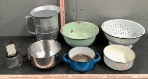 Kitchen Enamelware and Accessories