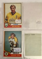 4 Topps Hockey Player Cards c.1974-75 - 2