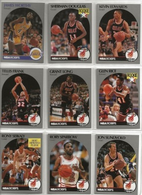 9 Hoops Basketball Player Cards c.1990-91