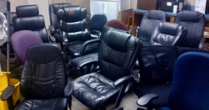 MISC. LOT OF ROLLING OFFICE CHAIRS