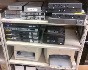 MISC. LOT OF SERVERS AND PORTS, HP LASERJET1300 PRINTER, HP LASERJET 1300N PRINTER