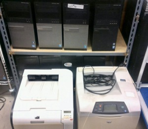 8 COMPUTER TOWERS, HP LASERJET 4200N PRINTER, HP LASERJET PRO 400 COLOR PRINTER