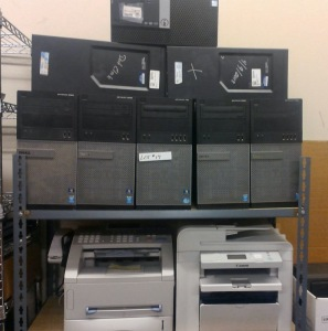 8 COMPUTER TOWERS, CANNON IMAGECLASS D550 COPY/SCANNER, BROTHER INTELIFAX 4750E