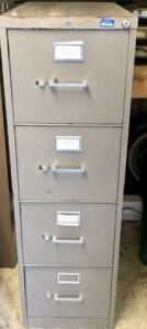3 FOUR DRAWER FILING CABINETS-LETTER SIZE