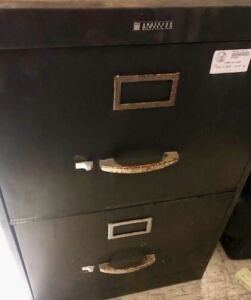 3 TWO DRAWER FILING CABINETS-LETTER SIZE