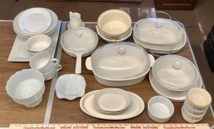 White Bakeware and Kitchen Accessories