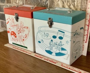 45rpm Record Collection with 2 Storage / Carry Cases