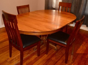 Early American Dining Table - Solid Oak