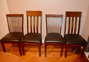 Two Pairs of Contemporary Dining Chairs