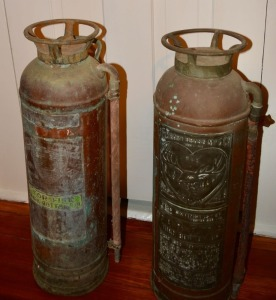 Two Antique Fire Extinguishers