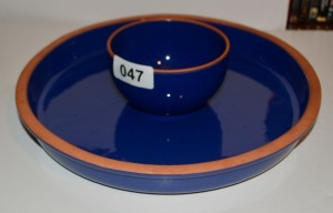 Chip Tray and Dip Bowl Set - Pottery