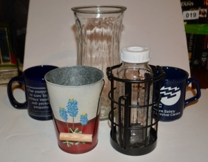 Miscellaneous Cups, Bud Vase, Decor Items