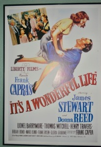 "Christmas Poster, ""It's a Wonderful Life"" Framed Print"