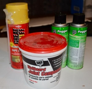Joint Compound, Foam Sealant, Household Foggers