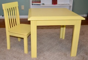 Child's Table and Chair