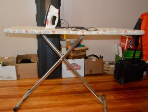 Iron and Adjustable Ironing Board