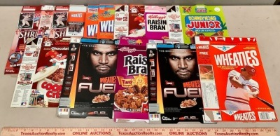 Cereal Boxes with Sports Celebrities