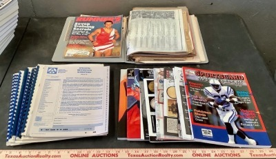 Sports Magazines, Scrapbook and Ephemera