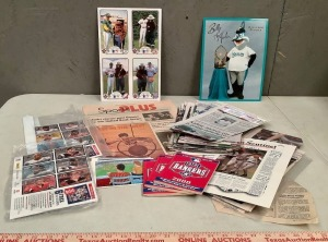 Newspaper Sports Pages and Ephemera