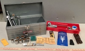 Craftsman Metal Tool Box with Hand Tools