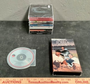 CD's and VHS Tape