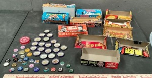 Sports Card Boxes and Bottle Caps