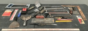 Hack Saws and Putty Knife Assortment