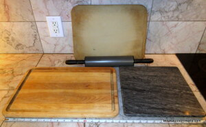 Cutting Boards,  Pampered Chef Stone, & Rolling Pin