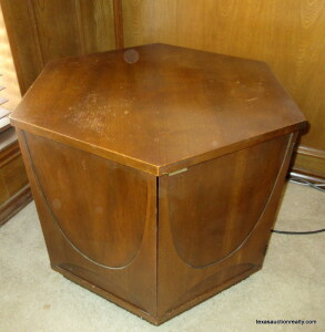 Mid Century Octagon Shaped Side Table